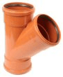 Underground drainage: 45° 3 socket equal junction