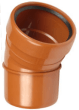 Underground drainage: 30° single socket bend