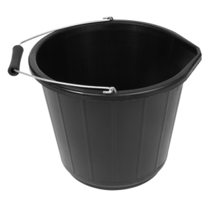 Bricklaying accessories: builders bucket 5ltr light duty