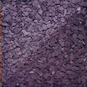 Chippings gravels pebbles: crushed slate blue bulk bag