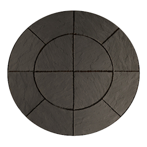 Circle paving packs: chalice circle welsh slate paving pack 1.5mtr