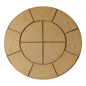 Ashwell Circle Honey Brown Paving Pack 1.5mtr