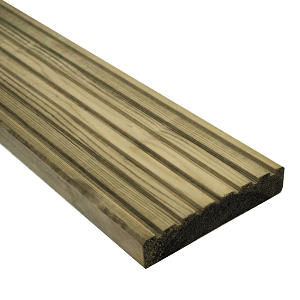 Treated Decking Boards 4800mm 32mm X 125mm
