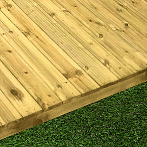 Decking components accessories kits: treated decking kit 3.6mtr x 3.6mtr