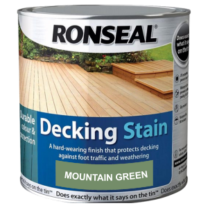 Decking components accessories kits: decking stain mountain green 2.5ltr