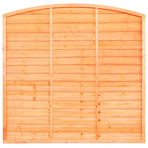 Fence panels trellis: bow top lap fence panel 6ft x 5ft