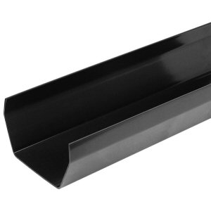 Guttering fittings: gutter length 4mtr square black