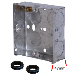 Metal Flush Box 1 Gang 47mm
