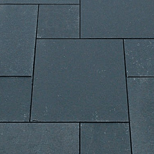 Natural stone paving: black slate 10.2mtr2 natural stone paving pack