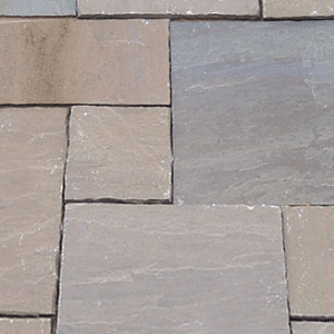 Natural stone paving: raj green 10.2mtr2 natural stone paving pack