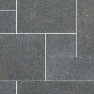 Natural stone paving: limestone graphite tumbled 15.25mtr2 natural stone paving pack