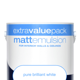 Paint emulsion: white matt emulsion 10ltr