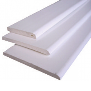 Pvc fascias soffits: pvcu flat back architrave 95mm x 5.0mtr