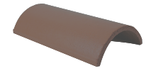 Ridge Tile Half Round Grey