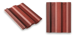 Square Top Roof Tile Red
