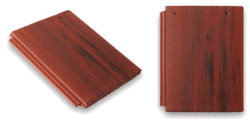 Flat Top Roof Tile Red