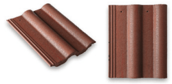 Double Roll Top Roof Tile Brown