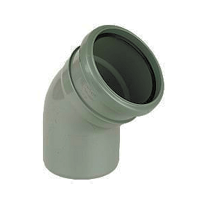 Soil pipe accessories: 135 degree single socket bend grey