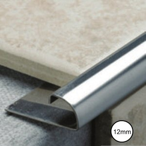 Tiling tools accessories: metal tile trim 12mm