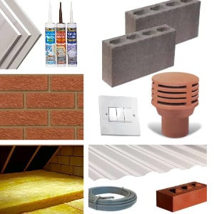 Building products and materials
